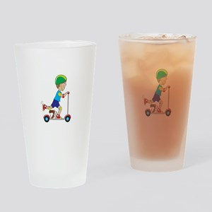 Scooter Boy Drinking Glass