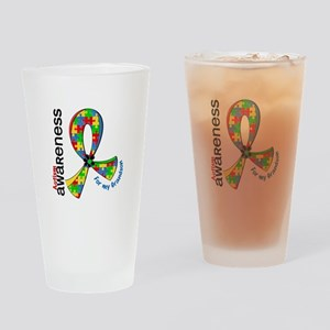For My Grandson Autism Drinking Glass