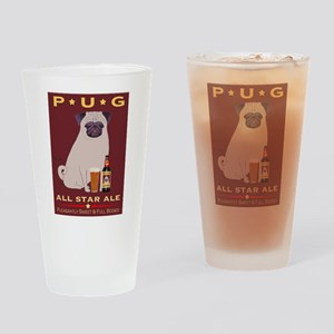 Pug All Star Ale Drinking Glass