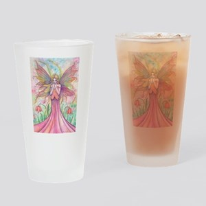 Wildflower Fairy Watercolor Fantasy Drinking Glass