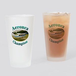 Aeronca Champ on floats Drinking Glass
