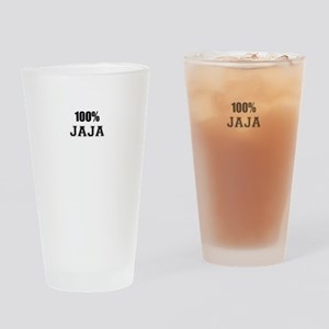 100% JAJA Drinking Glass
