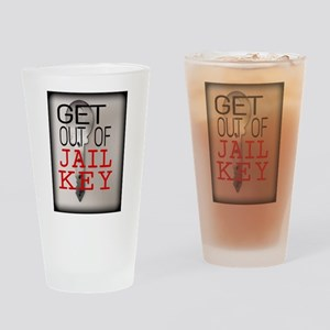 GET OUT JAIL KEY Drinking Glass