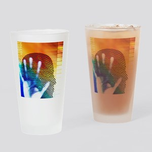 Forensic science Drinking Glass