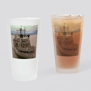 uss pyro framed panel print Drinking Glass