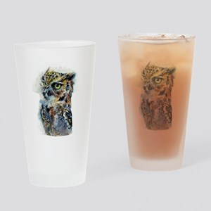 Owl Design Drinking Glass