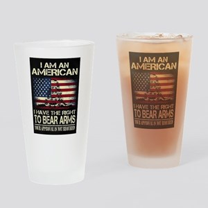 I Am An American Drinking Glass