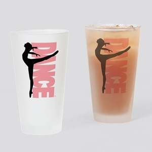 Beautiful Dance Figure Drinking Glass
