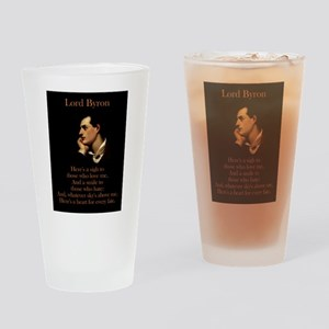 Here's A Sigh - Lord Byron Drinking Glass