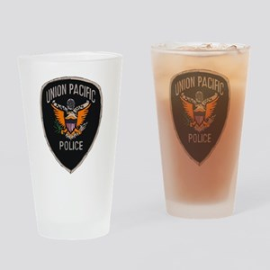 Union Pacific Police patch Drinking Glass