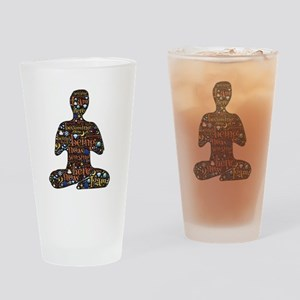 Meditation Drinking Glass