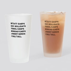 Tombstone Names Drinking Glass