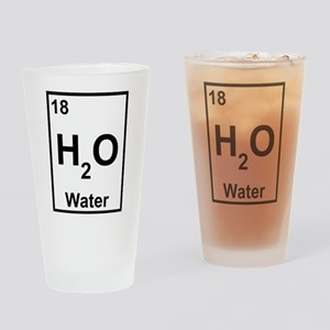 H2O Water Drinking Glass