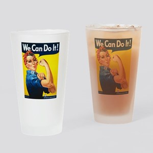 Rosie The Riveter-We Can Do It! Drinking Glass