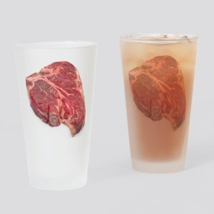 Raw T-bone steak Drinking Glass
