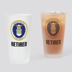 U.S. Air Force Retired Drinking Glass