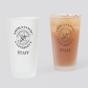 Miskatonic-Staff Drinking Glass