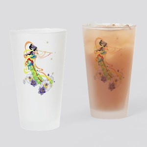 Oriental Girl Drinking Glass