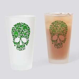 Shamrock Skull St Patricks Day Drinking Glass