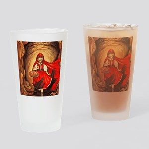 RedRidingHood2 Drinking Glass