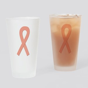 Peach Ribbon Drinking Glass