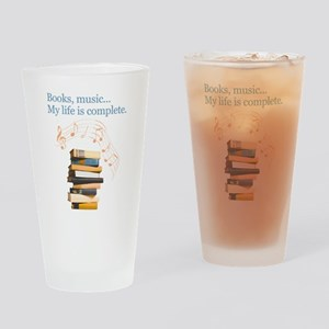 Books and music Drinking Glass