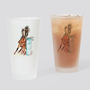 16x20_barrelracer Drinking Glass