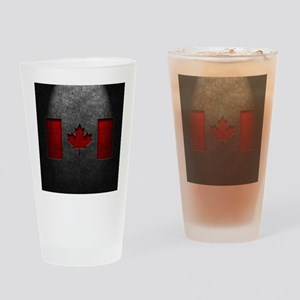 Canadian Flag Stone Texture Drinking Glass