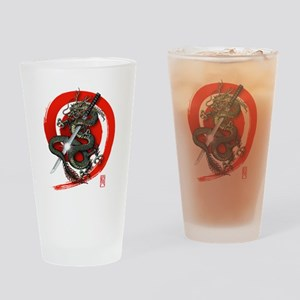 Dragon Katana02 Drinking Glass