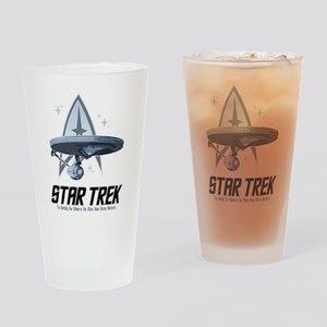Star Trek Ship with Stars Drinking Glass
