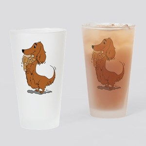 Dachshund and Bear Drinking Glass