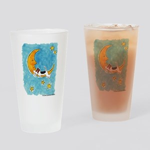 Wire Fox Terrier/Moon Drinking Glass