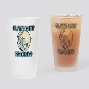 Plays with Swords Pint Glass