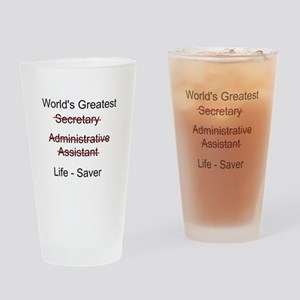 World's Greatest Secretary Drinking Glass