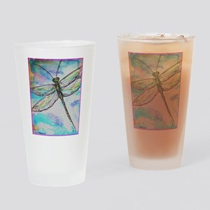 Dragonfly, Bright, art! Drinking Glass
