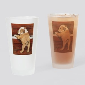Piano Pup Drinking Glass