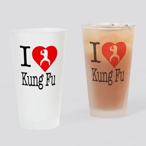 I Love Kung Fu Drinking Glass