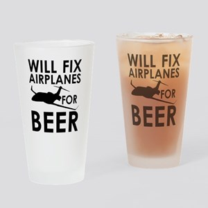 Airplanes Beer Drinking Glass