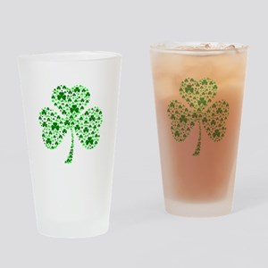 Irish Shamrocks Drinking Glass