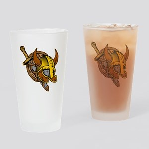 Helmet, Sword & Shield Drinking Glass