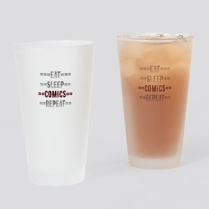 Comic Lover Gift - Eat Sleep Comics Drinking Glass