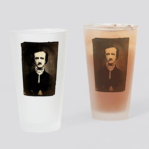 Vintage Poe Portrait Drinking Glass