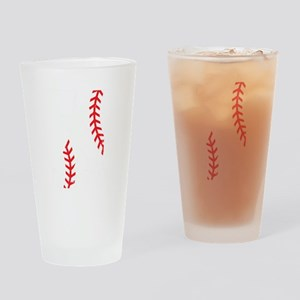 Baseball Pitcher Strikeout K Drinking Glass