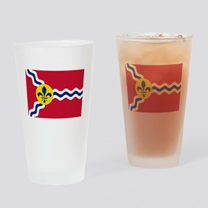 Patriotic Flag of St Louis Missouri Drinking Glass