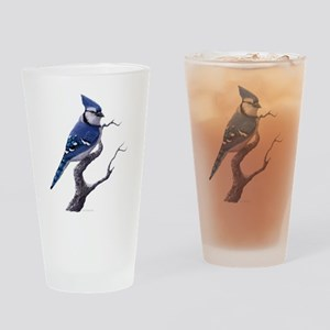 Blue Jay bird Drinking Glass