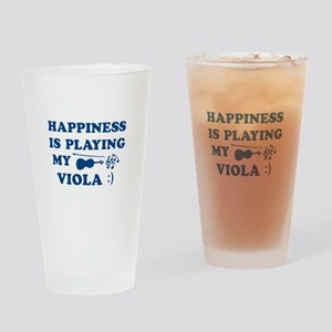 Viola Vector Designs Drinking Glass