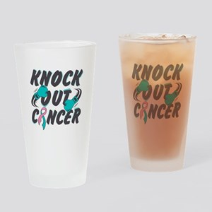 Knock Hereditary Breast Cancer Drinking Glass
