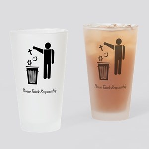 litterthink2 Drinking Glass
