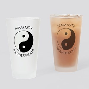 Namaste Motherfucker 4.pptx Drinking Glass