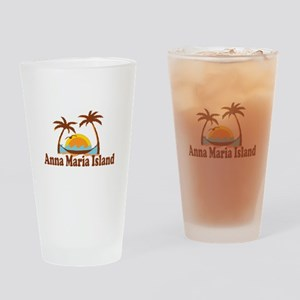 Anna Maria Island - Palm Trees Design. Drinking Gl